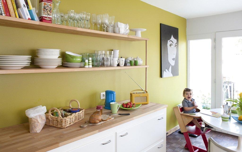 42 . Keuken Blauw Verven : De paarse kamer, hier is nog niets gebeurd ...