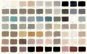 Krijtverf kleurenkaart