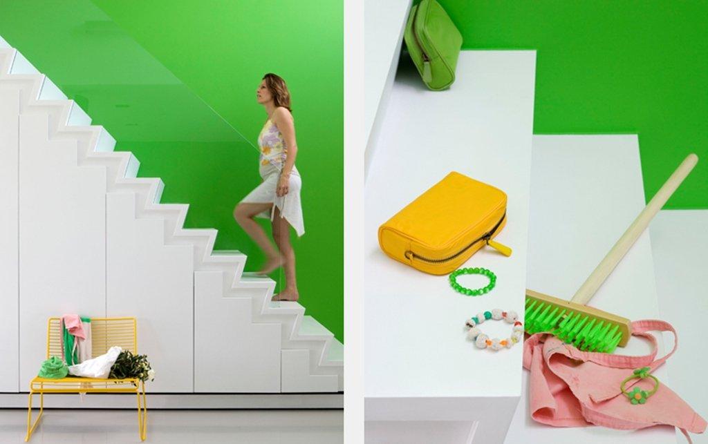Keuken groen verven decoratie idee verf muur groene anijs blauw keukeneiland houten keuken - Kleur trap schilderij ...